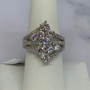RS Covenant Sparkling Multi Clear Cluster CZ Ring